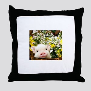 Chin Up! Throw Pillow