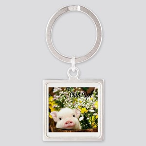 Chin Up! Square Keychain
