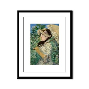 Jeanne by Manet Framed Panel Print