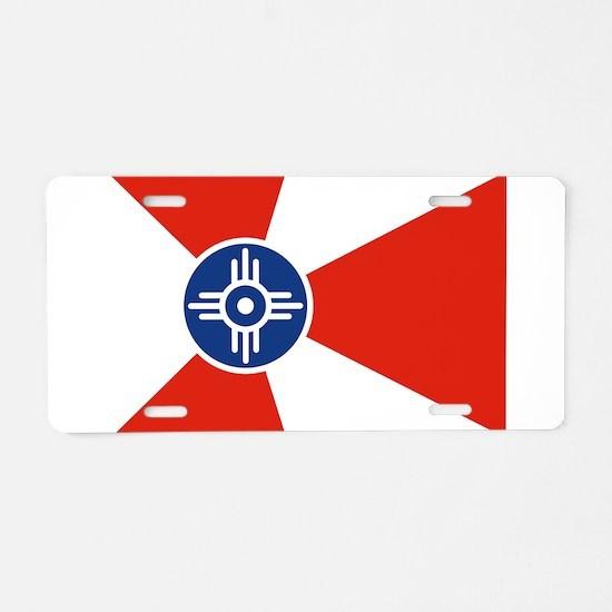 Wichita ICT Flag Aluminum License Plate