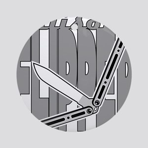 Balisong Flipper Round Ornament