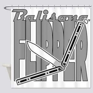Balisong Flipper Shower Curtain