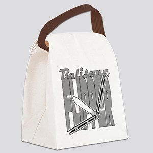 Balisong Flipper Canvas Lunch Bag