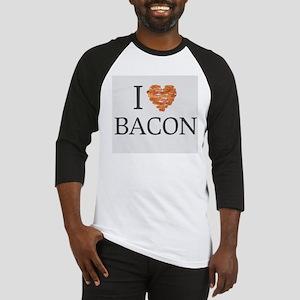I love bacon shirt Baseball Jersey