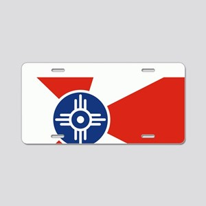 Wichita ICT Flag Aluminum License Plate