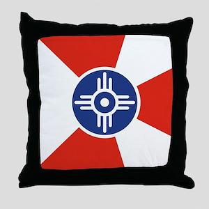 Wichita ICT Flag Throw Pillow
