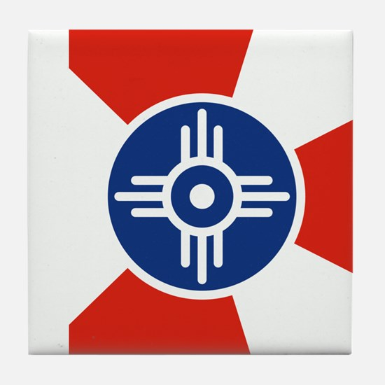 Wichita ICT Flag Tile Coaster
