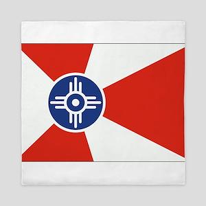 Wichita ICT Flag Queen Duvet