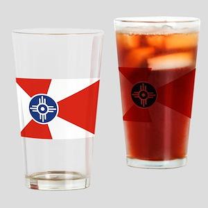 Wichita ICT Flag Drinking Glass