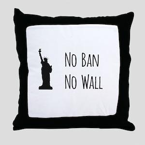 No Ban No Wall Throw Pillow