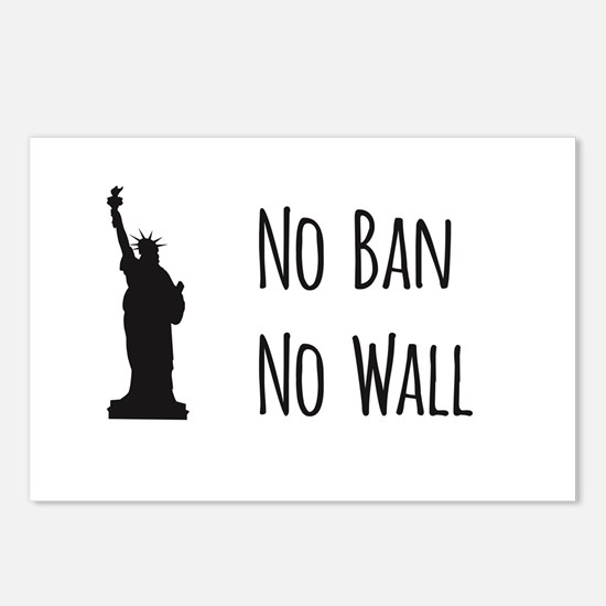 No Ban No Wall Postcards (Package of 8)