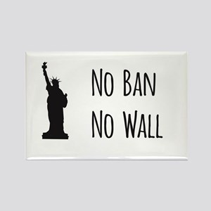No Ban No Wall Magnets