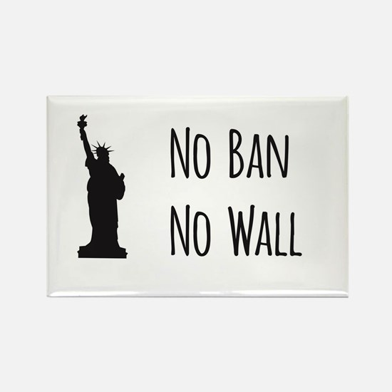 No Ban No Wall Magnets