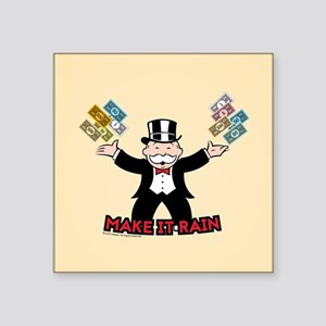 "Monopoly - Make It Rain Square Sticker 3"" x 3"""
