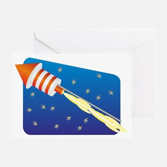Blue flame Greeting Card