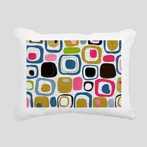 Mid Century Modern Print Rectangular Canvas Pillow