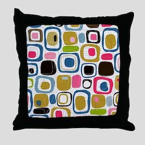 Mid Century Modern Print Throw Pillow