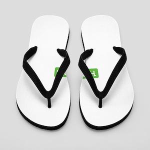 Hundo% Green Flip Flops