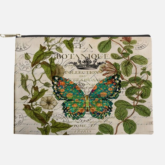 french botanical art butterfly Makeup Bag