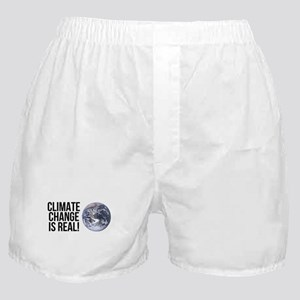 Climate Change is Real! Planet Earth Boxer Shorts