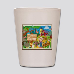 Welcome to the Farm Shot Glass