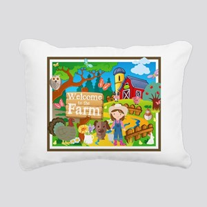 Welcome to the Farm Rectangular Canvas Pillow