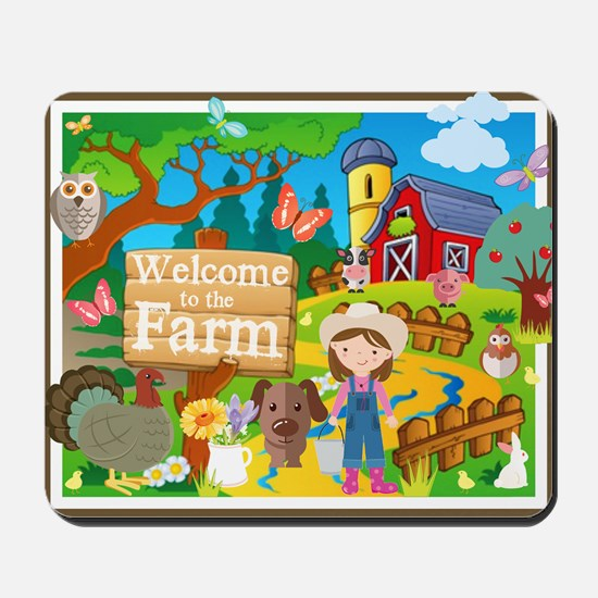 Welcome to the Farm Mousepad