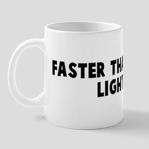 Faster than greased lightning Mug