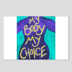 My Body My Choice Postcards (Package of 8)