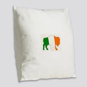Irish Buffalo Burlap Throw Pillow