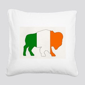 Irish Buffalo Square Canvas Pillow