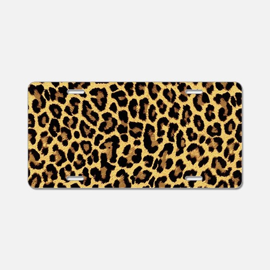 Leopard/Cheetah Print Aluminum License Plate