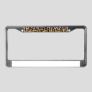 Leopard/Cheetah Print License Plate Frame