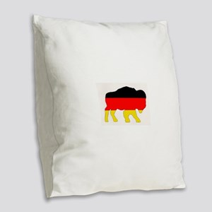 German Buffalo Burlap Throw Pillow