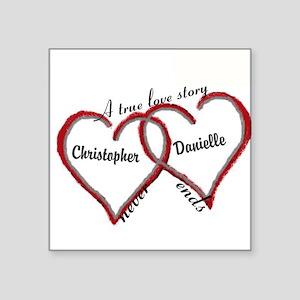 A true love story: personalize Sticker