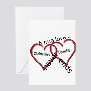 Wedding greeting cards cafepress a true love story personalize greeting cards m4hsunfo