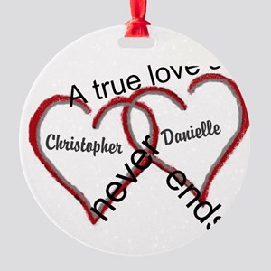 A true love story: personalize Ornament