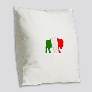 Italian Buffalo Burlap Throw Pillow