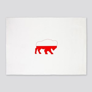 Polish Buffalo 5'x7'Area Rug