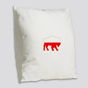 Polish Buffalo Burlap Throw Pillow