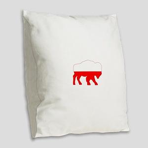 Polish Buffalo Burlap Throw Pillow