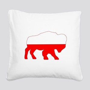 Polish Buffalo Square Canvas Pillow
