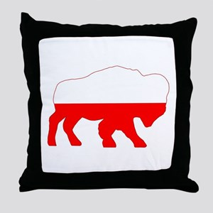 Polish Buffalo Throw Pillow