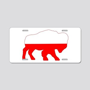 Polish Buffalo Aluminum License Plate