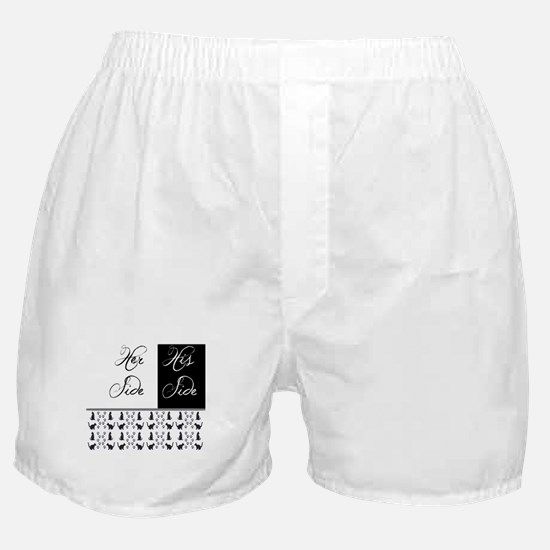 her,his, cat Boxer Shorts