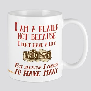 I am a reader and have many lives Mugs