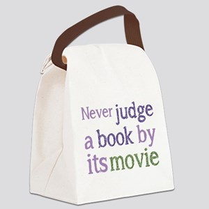 Never judge a book by its movie Canvas Lunch Bag