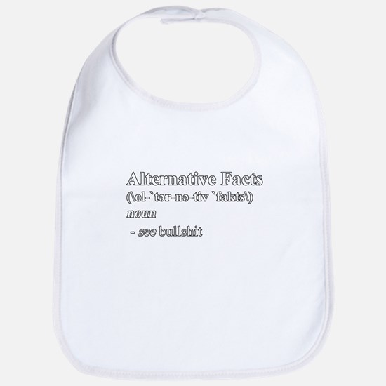 Alternative Facts Definition - White Baby Bib