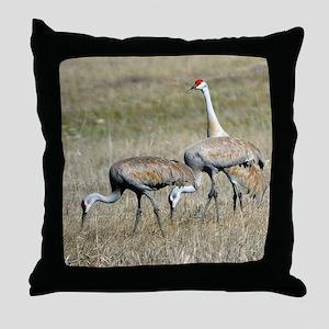 Sandhill Cranes Throw Pillow