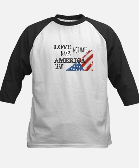 Love Not Hate Makes America Great Baseball Jersey